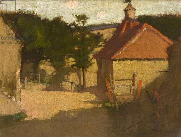 Farm House, 19th century (oil on canvas)