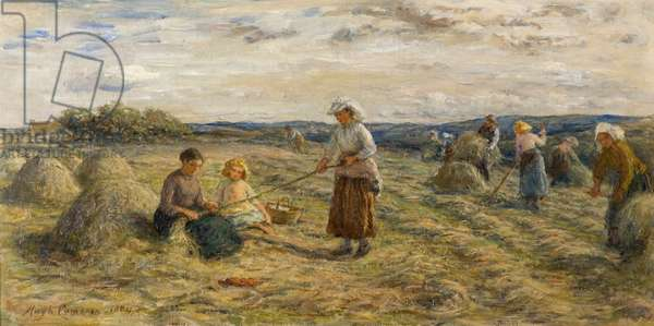 Haymaking, 1884 (oil on canvas)