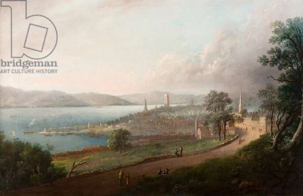 Dundee from Princes Street, c.1823-24 (oil on canvas)
