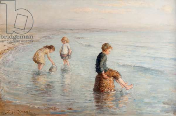 Waiting for the Wave, 19th century (oil on canvas)