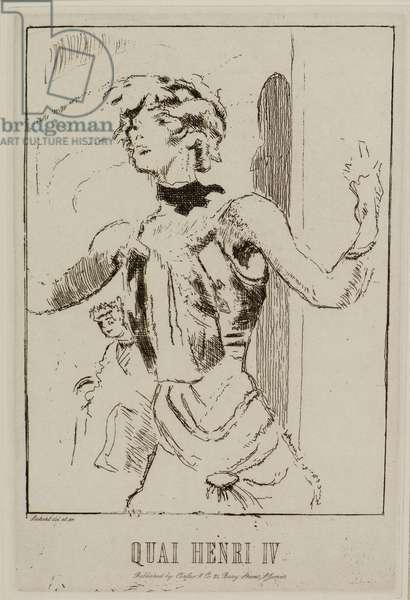 Quai Henry IV, 1915 (etching)