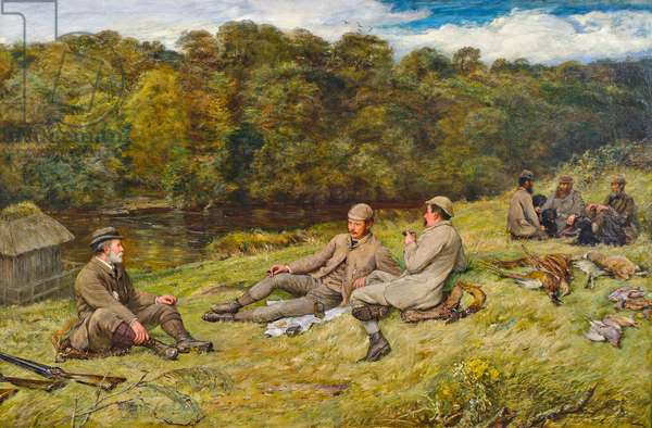 Hunting Party at Stobhall (Perthshire), 1877 (oil on canvas)