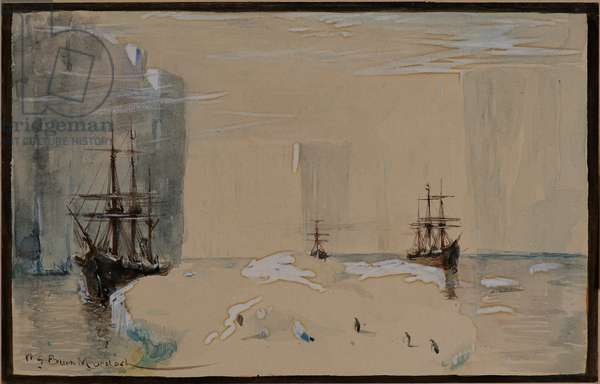 Sketch from the Dundee Antarctic Whaling Expedition, 1892-93 (w/c)