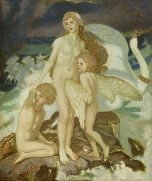 The Children of Lir, 1924 (tempera)