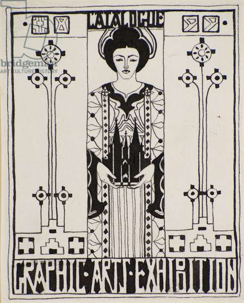 Design for Dundee Graphic Arts Association Catalogue Cover [Ink], 1899 (pen & ink)