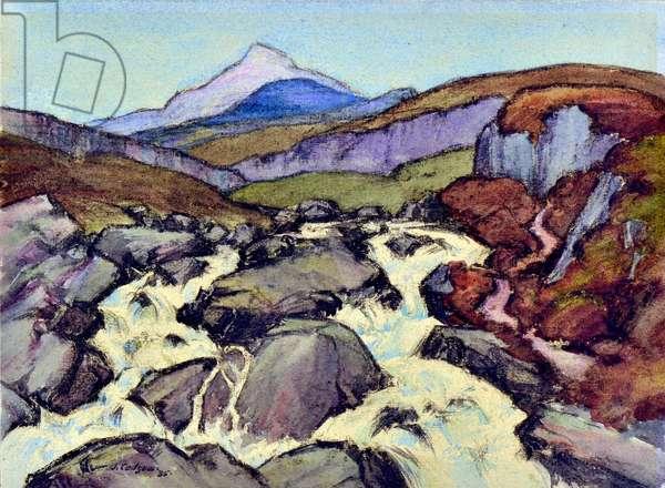 The Falls, 1935 (w/c)