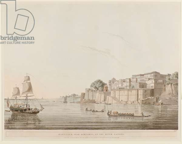 Ramnugur, near Bernares, on the River Ganges, 1796 (engraving)