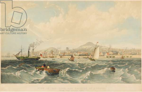 View of the Town and Harbour of Dundee, c.1850 (lithograph)