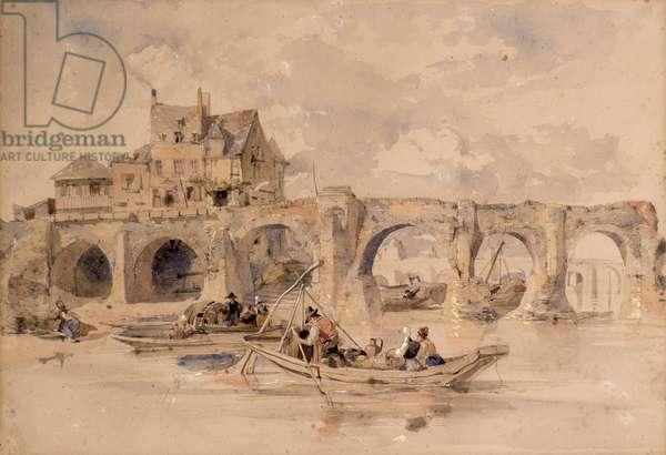 Old Bridge, 19th century (w/c)