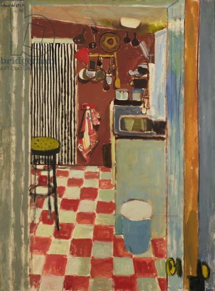 The Striped Curtain, 1968 (oil on canvas)