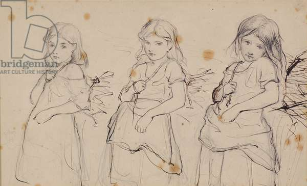 Studies for a Picture, 1862-63 (pencil & ink)