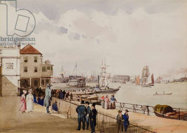 Architectural Subject (Harbour), 19th century (w/c)