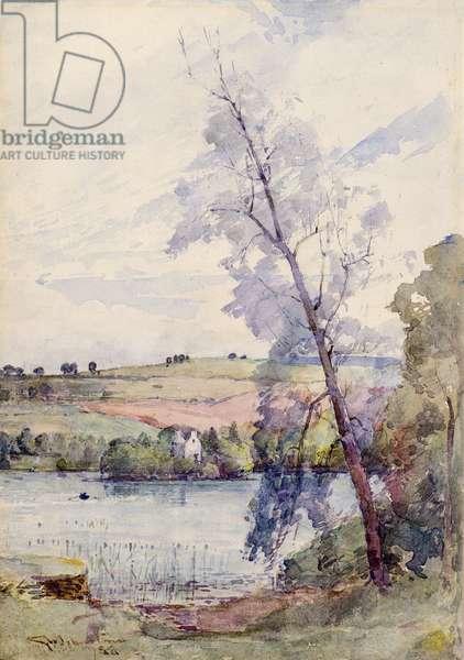 Loch Scene, 1888 (w/c)
