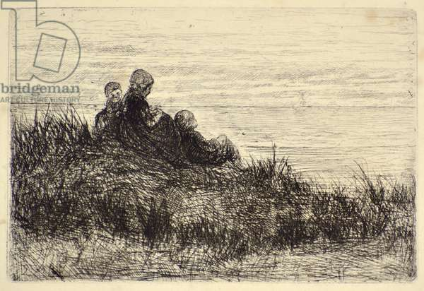 Evening on the Shore (etching)