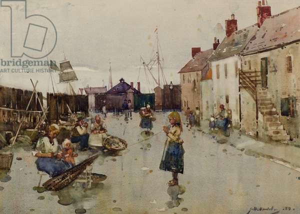 Old Shore Head, Arbroath, 1889 (w/c)