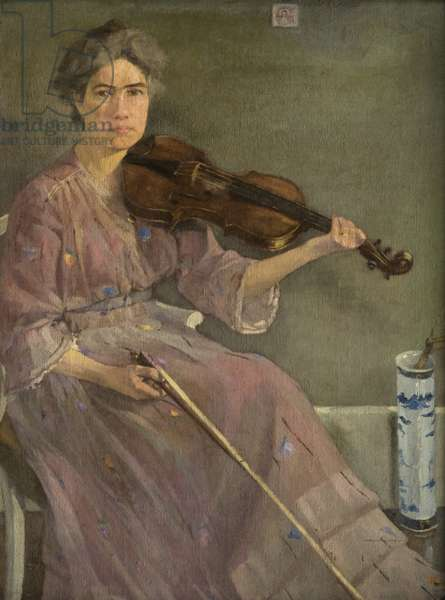 The Artist's Wife, 20th century (oil on canvas)