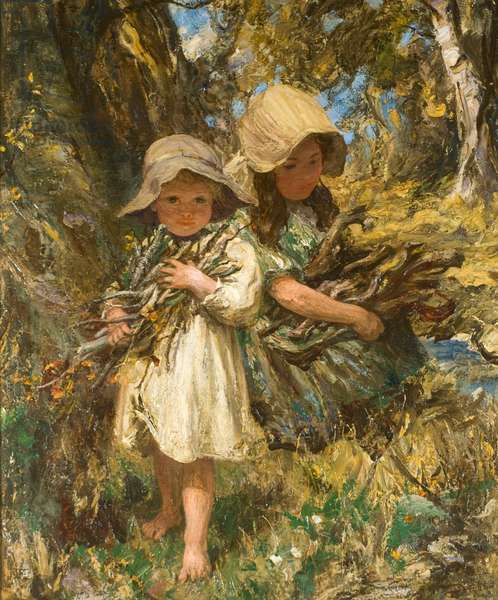 Woodland Gleaners, 1906 (oil on canvas)
