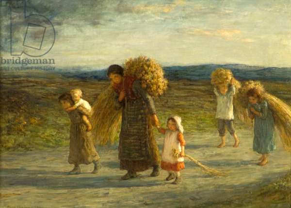 Gleaners, 1881 (oil on canvas)