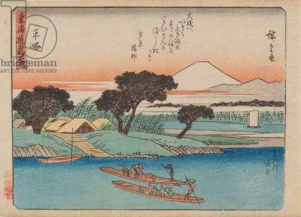 Hiratsuka, 1840-42 (woodblock print)