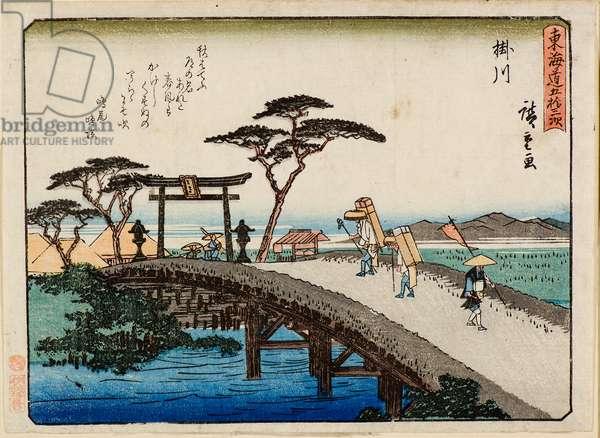 Kakegawa, 19th century (woodcuts)