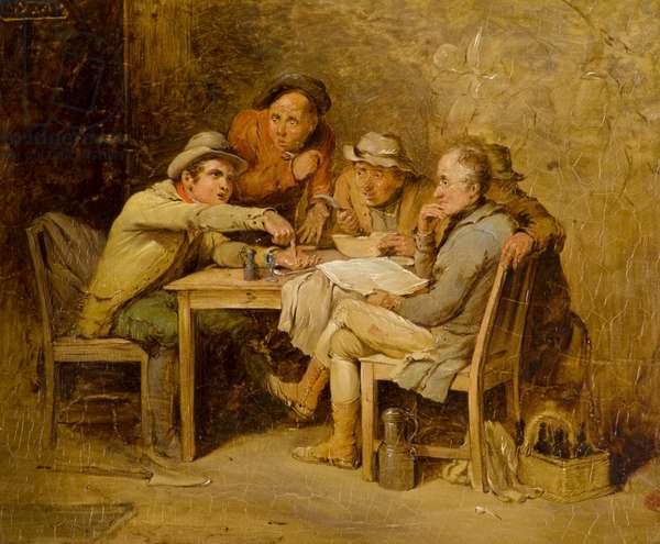 The Village Politicians, 19th century (oil on panel)