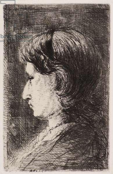 Female Portrait (etching)
