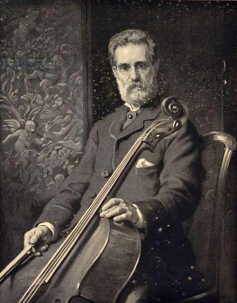 Alfredo Piatti, 19th century (engraving)