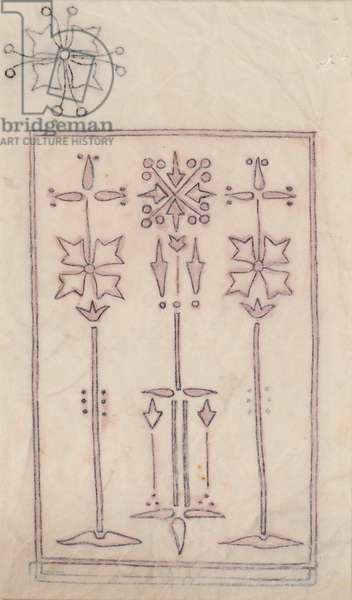 Design for an embroidery, 1899 (pencil)