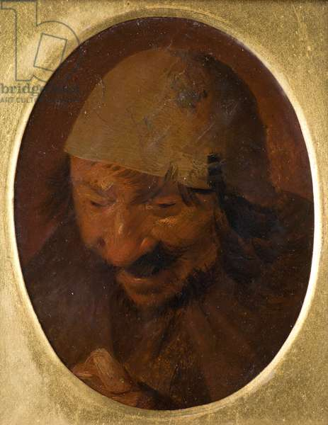 Portrait of Peasant, 17th century (oil on board)