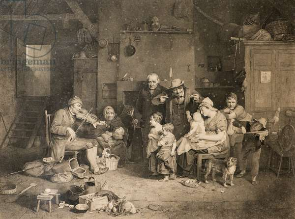 The Blind Fiddler (after Sir David Wilkie), 19th century (engraving)