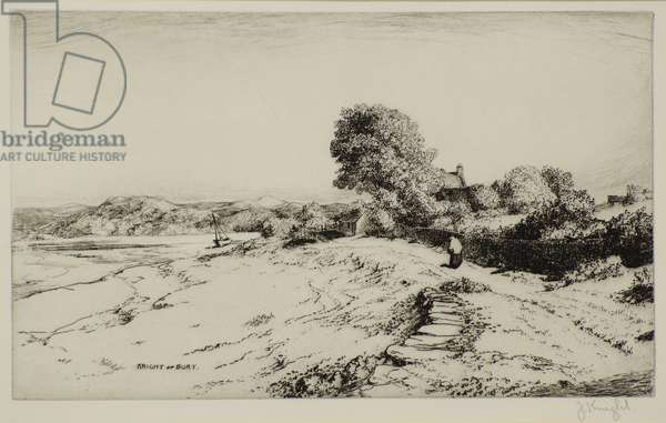 A Welsh Estuary, 19th century (etching)