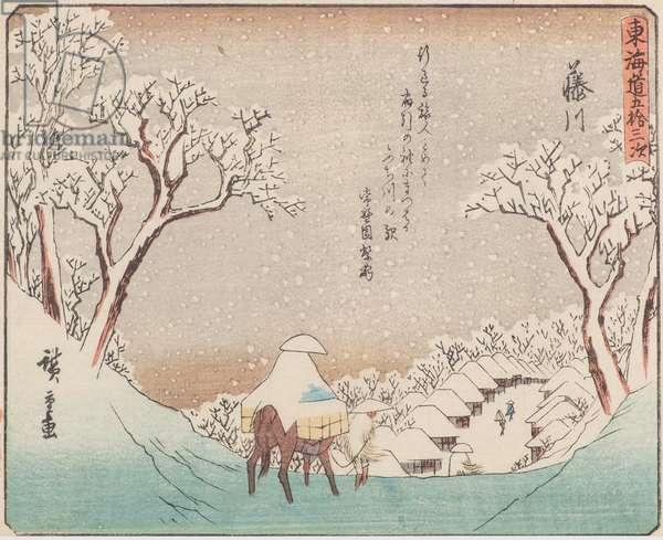Fujikawa, 1840-42 (woodblock print)