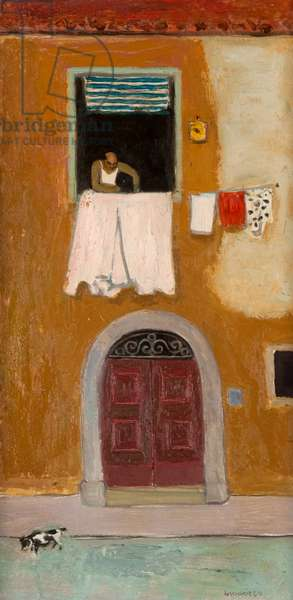 Window in Orbetello, c.1980 (oil on board)