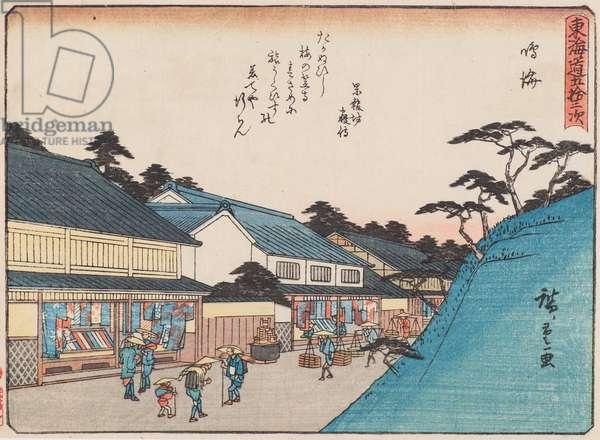 Narumi, 1840-42 (woodblock print)