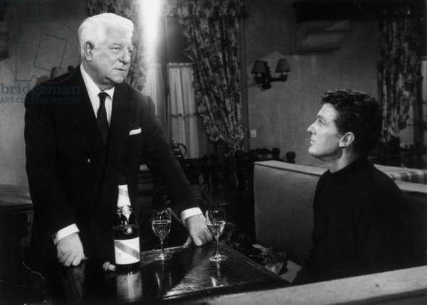 Jean Gabin et Robert Stack sur le tournage du film Action Man 30 décembre 1966
