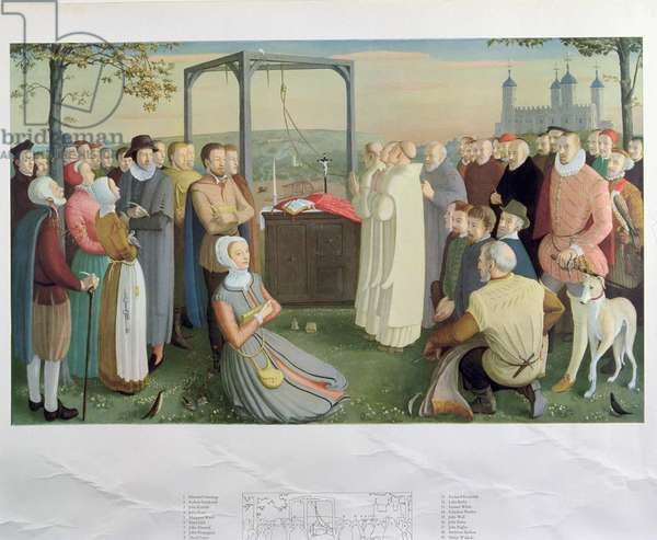 The Forty Martyrs of England and Wales (colour litho)