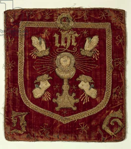 Badge of the Five Wounds of Christ (embroidered textile)