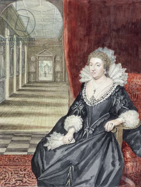 Aletheia, Countess of Arundel, by George Vertue (1684-1756) c.1730 (w/c on paper)