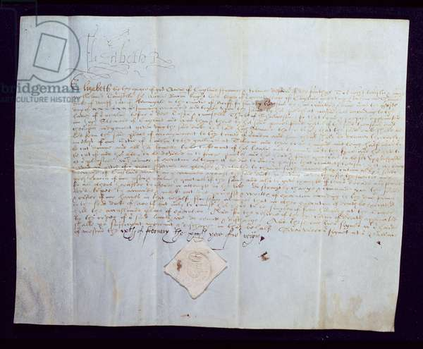 The Death Warrant of Thomas Howard, 4th Duke of Norfolk, signed by Queen Elizabeth I, 1572 (ink on vellum)