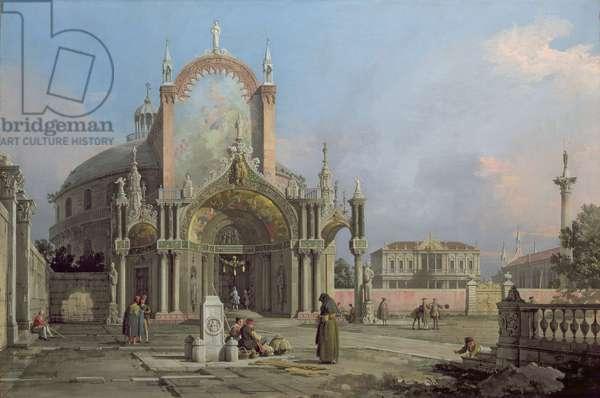 Capriccio of a church, c.1750 (oil on canvas)
