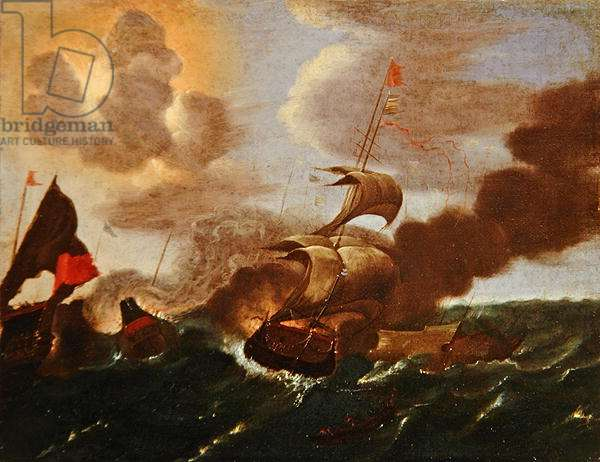An Incident in the Anglo-Spanish War (oil on canvas)