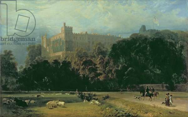 View of Arundel Castle from the south-east, 1823 (oil on canvas)