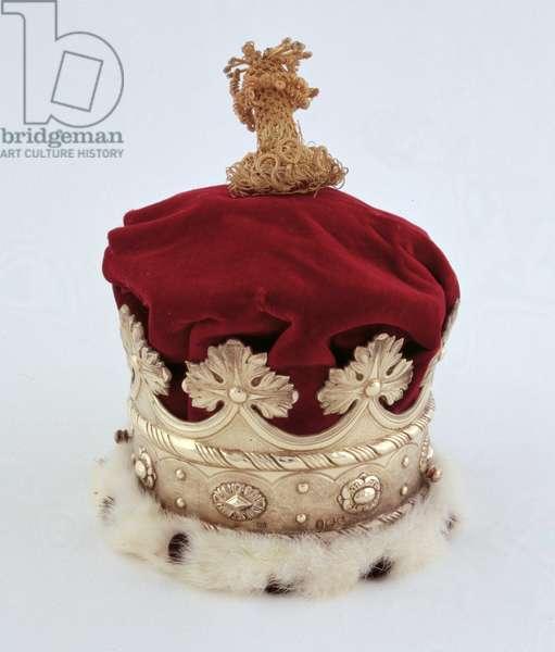 The Duchess of Norfolk's Coronet (silver gilt, velvet and ermine)