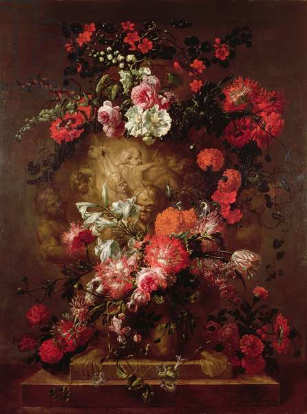 Flowers Round a Huge Urn, 1706 (oil on canvas)