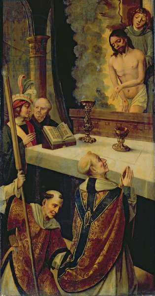 The Mass of St Gregory (oil on panel) (see also 279066)