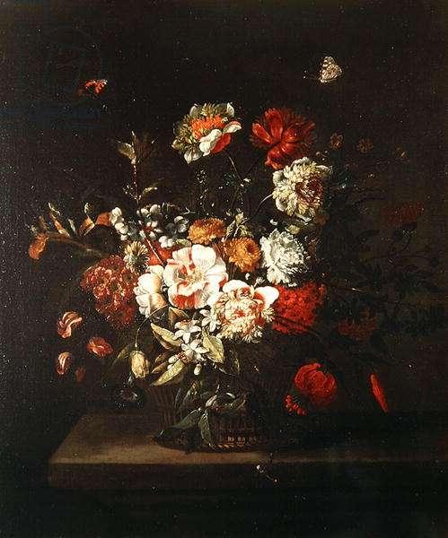 Flower Piece, 1706 (oil on canvas)