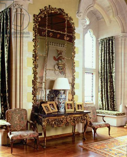 Arundel Castle, The Drawing Room, built by His Grace The Duke of Norfolk, West Sussex (photo)