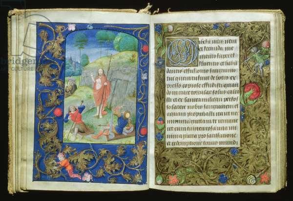 The Resurrection, miniature from the Stafford Prayer Book (vellum)