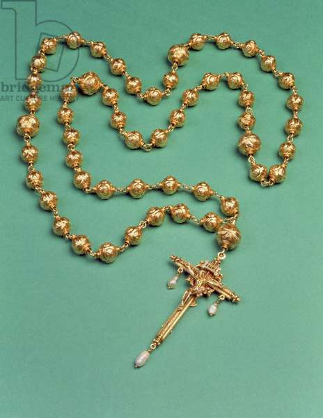 Rosary belonging to Mary Queen of Scots, 1587 (gold and pearl) (see also 279121)