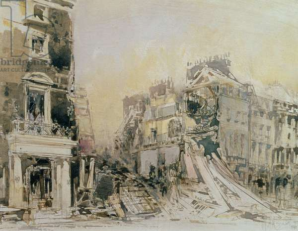 The Blitzed Arts Club, 19th September 1940 (etching on paper)